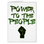 Power to the People! Greeting Cards