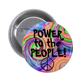 Power To The People-Groovy Button