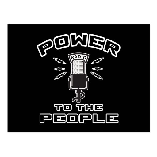 Power To The People Postcard