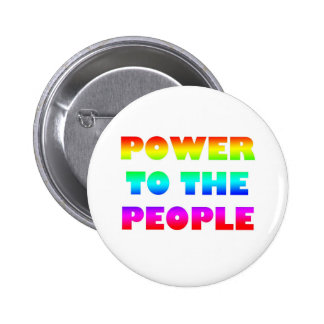 Power to the People Retro Style Protest Occupy Button
