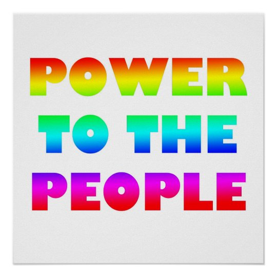 Power to the People Retro Style Protest Occupy Poster