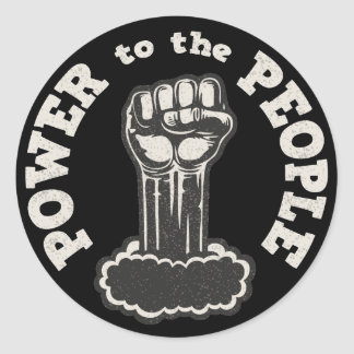 Power to the People Classic Round Sticker