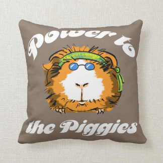 Power to the Piggies Pillow