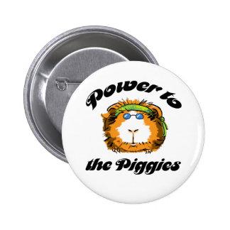 Power to the Piggies Pinback Button