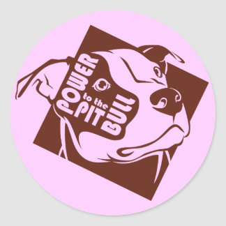 Power to the Pit Bull Classic Round Sticker