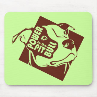 Power to the Pit Bull Mouse Pad