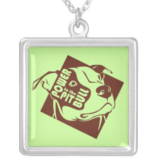 Power to the Pit Bull Personalized Necklace