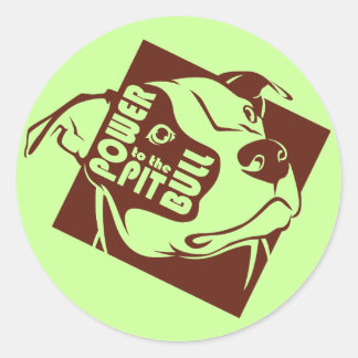 Power to the Pit Bull Stickers