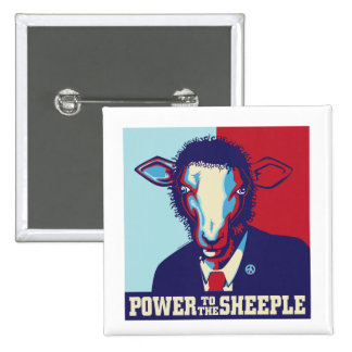 Power to the Sheeple Pinback Buttons