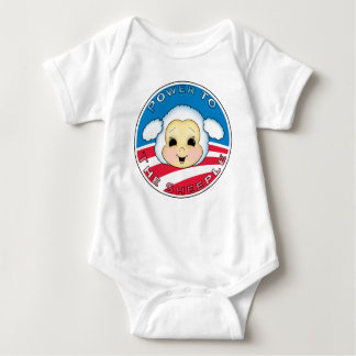 Power To The Sheeple (Obama) Baby Bodysuit