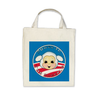 Power To The Sheeple Obama Canvas Bag