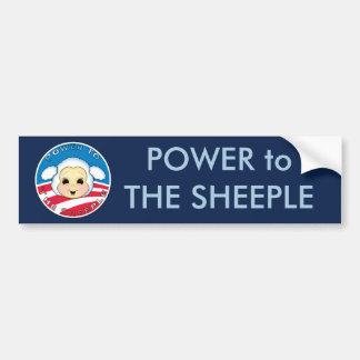 Power to The Sheeple (Obama) Bumper Stickers