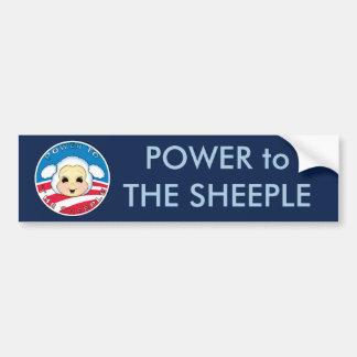 Power to The Sheeple (Obama) Car Bumper Sticker