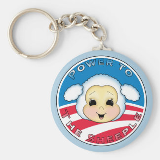 Power To The Sheeple (Obama) Keychain