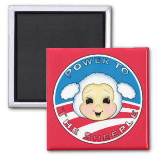 Power To The Sheeple (Obama) Magnet