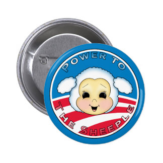Power To The Sheeple (Obama) Pinback Button