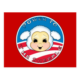 Power To The Sheeple (Obama) Postcard