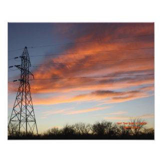 POWER TOWER SUNSET Photo