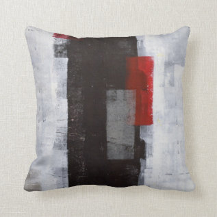 'power Trip' Black, Grey, Red Abstract Art Pillow at Zazzle
