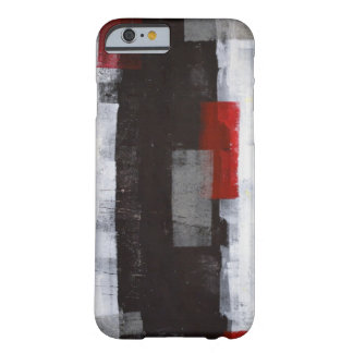 'Power Trip' Grey and Red Abstract Art Barely There iPhone 6 Case