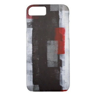 'Power Trip' Grey and Red Abstract Art iPhone 8/7 Case