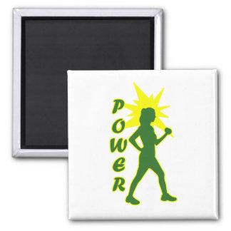 Power Walker 2 Inch Square Magnet