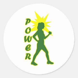 Power Walker Classic Round Sticker
