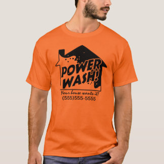 Power Wash business promotional t shirt