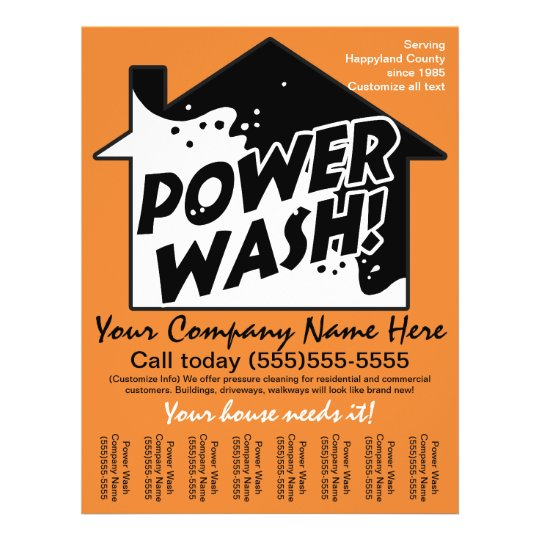 power wash pressure cleaning marketing advertising flyer