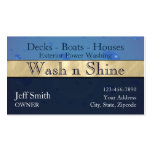 Power Washing Business Card