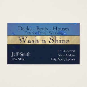 Power washing business cards templates zazzle power washing business card fbccfo Image collections