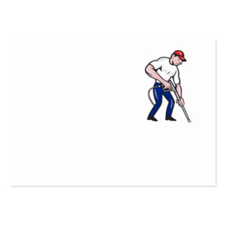 Power Washing Pressure Water Blaster Worker Large Business Cards (Pack Of 100)