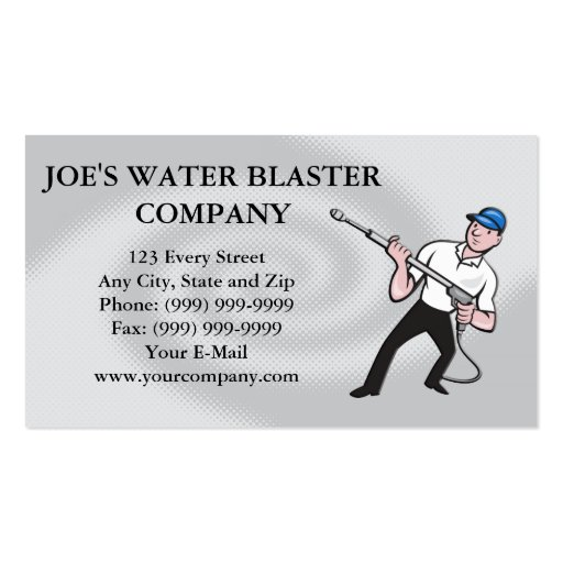 Power washing business card templates bizcardstudio power washing pressure water blaster worker business card templates accmission Image collections