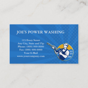 Pressure Washing Business Cards Zazzle