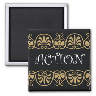 Power Word For Motivation - ACTION 2 Inch Square Magnet