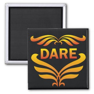 Power Word For Motivation - DARE magnet