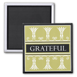 Power Word For Motivation - GRATEFUL 2 Inch Square Magnet