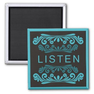 Power Word For Motivation - LISTEN magnet