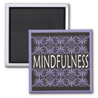 Power Word For Motivation - MINDFULNESS 2 Inch Square Magnet