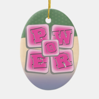 POWER WORD GIRL PINK CERAMIC ORNAMENT
