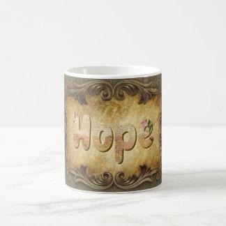 "Power Word ""Hope"" on White Mug"