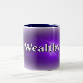 Power Word Wealthy on White Mug
