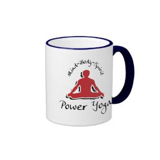 Power Yoga Gift Ringer Coffee Mug