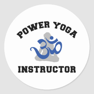 Power Yoga Instructor Classic Round Sticker