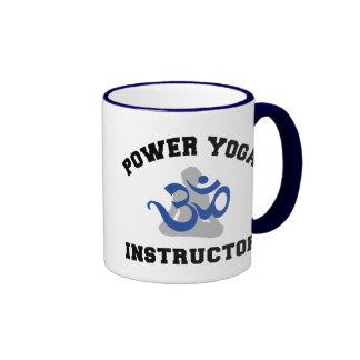 Power Yoga Instructor Gift Ringer Coffee Mug