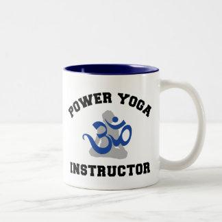 Power Yoga Instructor Gift Two-Tone Coffee Mug