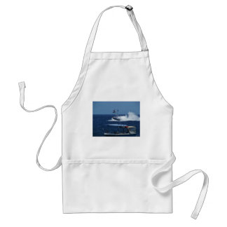 Powerboat and a helicopter adult apron