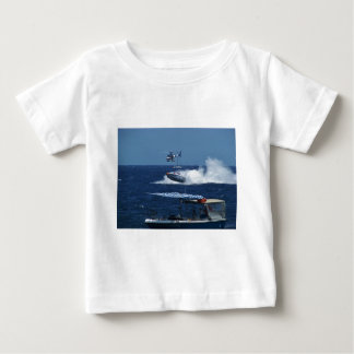 Powerboat and a helicopter baby T-Shirt