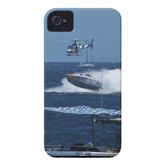 Powerboat and a helicopter iPhone 4 case
