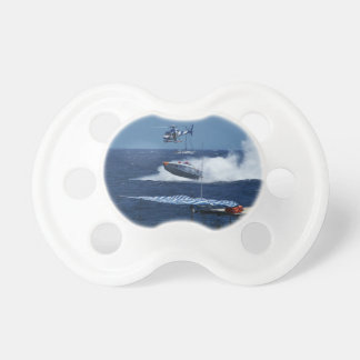 Powerboat and a helicopter pacifier